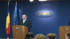 Briefing susținut de prim-ministrul, Mihai Răzvan Ungureanu, împreună cu ministru, Cătălin Predoiu și noul purtător de cuvânt, Dan Suciu, după ședința Guvernului României. 21.02.2012