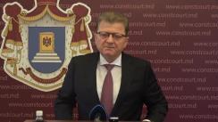 Briefing de presă susținut de Președintele Curții Constituționale a Republicii Moldova, Vladimir Țurcan