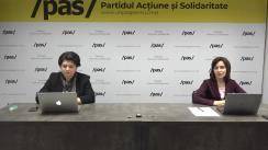 Discuție cu Președintele Partidului Acțiune și Solidaritate, Maia Sandu, și Ministrul Finanțelor în cadrul Guvernului Sandu, Natalia Gavrilița, privind măsurile propuse de PAS în timp de criză pandemică