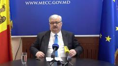 Briefing de presă susținut de ministrului Educației, Culturii și Cercetării, Igor Șarov, privind acțiunile întreprinse de minister în vederea asigurării desfășurării procesului educațional la distanță