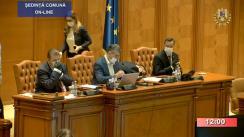 Ședința comună a Camerei Deputaților și Senatului României din 16 aprilie 2020