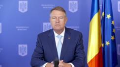 Declarație de presă susținută de Președintele României, Klaus Iohannis, după ședința de evaluare și prezentare a măsurilor cu privire la gestionarea epidemiei COVID-19