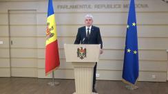 Declarațiile lui Alexandru Slusari în timpul ședinței Parlamentului Republicii Moldova din 23 aprilie 2020