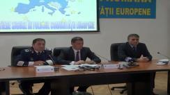 Conferință de presă organizată de Inspectoratul General al Poliției de Frontieră