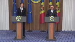 Briefing susținut de Prim-ministrul Republicii Moldova, Ion Chicu, și Ministrul Afacerilor Externe și Comerțului al Ungariei, Péter Szijjártó