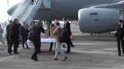 Ceremonia de transmitere a lotului de asistență umanitară incluzând echipament medical de protecție, oferite Republicii Moldova de Guvernul Ungariei