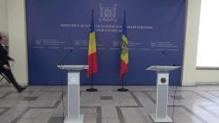 Conferință de presă susținută de Ministrul Afacerilor Externe și Integrării Europene al Republicii Moldova, Oleg Țulea, și Ministrul Afacerilor Externe al României, Bogdan Aurescu
