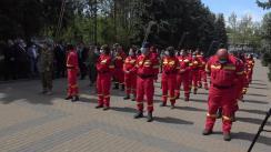 Ceremonia de prezentare a medicilor români care vor efectua misiunea de sprijin a cadrelor medicale din Republica Moldova în vederea limitării pandemiei generate de corona virusul SARS-Cov-2