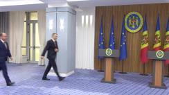 Briefing susținut de Prim-ministrul Republicii Moldova, Ion Chicu, și Ministrul Afacerilor de Externe al României, Bogdan Aurescu