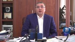 Conferință de presă susținută de Președintele Partidului Nostru, Renato Usatîi, privind provocările pregătite împotriva judecătorilor Curții Constituționale
