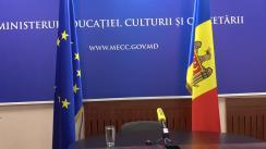 Briefing de presă a Ministrului Educației, Culturii și Cercetării a Republicii Moldova, Igor Șarov, privind finalizarea anului de studii 2019-2020