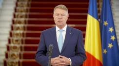 Declarație de presă susținută de Președintele României, Klaus Iohannis, după ședința privind măsurile de gestionare a epidemiei COVID-19