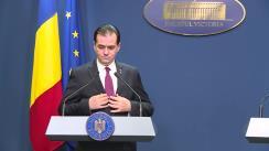 Conferință de presă susținută de Prim-ministrul României, Ludovic Orban
