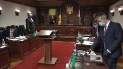 Ședința Curții Constituționale de examinare a sesizării privind controlul constituționalității unor prevederi din Acordul dintre Guvernul Republicii Moldova și Guvernul Federației Ruse privind acordarea către Guvernului Republicii Moldova a unui împrumut financiar de stat