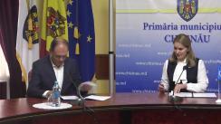 Semnarea Acordului de colaborare între Primăria municipiului Chișinău și Agenția Națională de Integritate