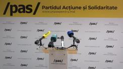 Conferință de presă susținută de Lidera Partidului Acțiune și Solidaritate, Maia Sandu, și deputatul PAS, Igor Grosu