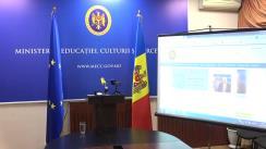 Briefing de presă susținut de ministrul Educației, Culturii și Cercetării, Igor Șarov, referitor la organizarea și desfășurarea examenului național de bacalaureat, sesiunea 2020