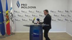 Declarații de presă ale liderului PRO MOLDOVA, Andrian Candu, în legătură cu ultimele evenimente social-politice