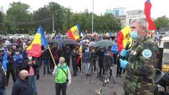 Protestul veteranilor de război în Piața Marii Adunări Naționale
