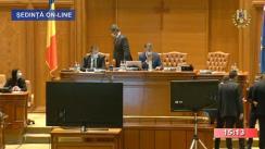Ședința comună a Camerei Deputaților și Senatului României din 20 mai 2020