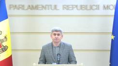 Briefing de presă susținut de către deputatul PDM, Alexandru Jizdan