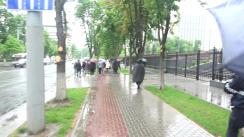 Acțiune de protest a Partidului ȘOR împotriva președintelui Igor Dodon, corupt cu kulioace