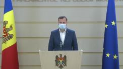 Conferință de presă susținută de către deputații Dinu Plîngău și Vasile Năstase pe subiectul amendării Codului electoral