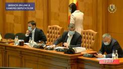 Ședința în plen a Camerei Deputaților României din 27 mai 2020