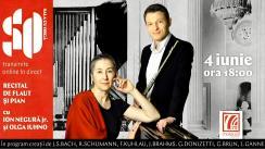 Recital de Flaut și Pian cu Ion Negură jr. și Olga Iuhno