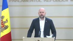 Conferință de presă susținută de deputatul Fracțiunii PAS, Blocul ACUM Vladimir Bolea, cu privire la înregistrarea inițiativei legislative cu nr.209 din 28.05.2020, privind modificarea art.134 din Codul educației nr.152/2014