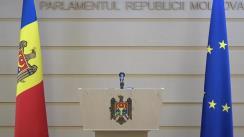 Conferință de presă a deputaților Iurie Reniță, Octavian Țîcu și Lilian Carp pe subiecte de stringentă actualitate