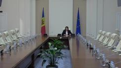 Conferință de presă susținută de viceprim-ministra pentru Reintegrare, Cristina Lesnic