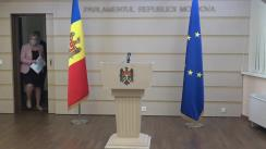 Conferință de presă a grupului parlamentar PRO MOLDOVA