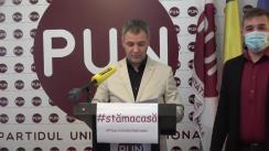 """Conferință de presă organizată de Partidul Unității Naționale cu privire la lansarea campaniei """"Săptămâna Memoriei"""""""