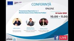 Conferința organizată de Asociația Promo-LEX de prezentare a Raportului nr. 3 de Monitorizare civică a Reformei Poliției