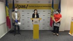 """Conferință de presă cu tema """"Partidul Acțiune și Solidaritate prezintă soluții anticriză în 7 domenii-cheie"""""""