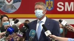 Declarațiile Președintelui României, Klaus Iohannis, după vizita la Unitățile Mobile ATI, Romexpo