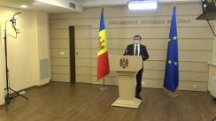 Conferință de presă susținută de deputatul Fracțiunii PAS, Blocul ACUM, Igor Grosu, cu privire la anularea Legii cetățeniei prin investiție