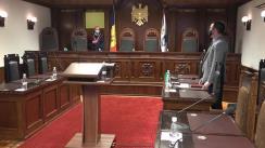 Ședința Curții Constituționale de examinare a sesizării privind controlul constituționalității unor prevederi din Legea nr. 212 din 24 iunie 2004 privind regimul stării de urgență, de asediu și de război și a unor prevederi din Hotărârea Parlamentului nr. 55 din 17 martie 2020 privind declararea stării de urgență