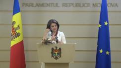 Briefing de presă a Vicepreședintei Parlamentului Republicii Moldova, Monica Babuc