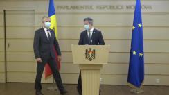 Briefing de presă susținut de grupul parlamentar Pro Moldova