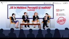 """Conferința de încheiere a proiectului """"NOI și UE – UE în Moldova: Percepții și Realitate"""" organizată de Institutul pentru Inițiative Strategice, în parteneriat cu Institutul pentru Politici și Reforme Europene"""