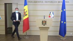 Conferință de presă a președintelui Grupului parlamentar PRO MOLDOVA, Andrian Candu și a deputatei Ruxanda Glavan privind prezentarea Planului de acțiuni al Republicii Moldova pentru îmbunătățirea răspunsului de control al infecției COVID-19