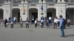 """Flashmob organizat de Partidul Acțiune și Solidaritate față de decizia Procuraturii de neîncepere a urmăririi penale pe cazul """"kuliokul"""""""