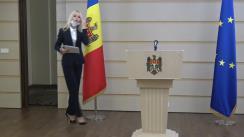 """Briefing susținut de secretarul fracțiunii parlamentare a Partidului Politic """"ȘOR"""", deputata Marina Tauber"""