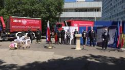 Ceremonia de acordare a ajutorului umanitar din partea Republicii Polonia
