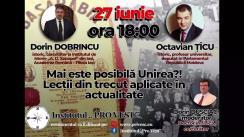 """Dezbatere publică organizată de Institutul """"Pro Vest"""" cu tema """"Mai este posibilă Unirea? Lecții din trecut aplicate în actualitate"""""""