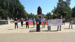 """Flashmob organizat de Partidul Unității Naționale cu privire la lansarea Campaniei """"Săptămâna Memoriei"""""""
