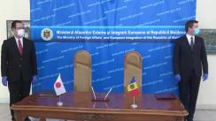 Ceremonia de semnare a două acorduri, întocmite prin schimb de note, între Guvernul Republicii Moldova și Guvernul Japoniei privind acordarea unui împrumut și privind cooperarea economică