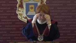 Briefing susținut de Președintele Curții Constituționale a Republicii Moldova, Domnica Manole